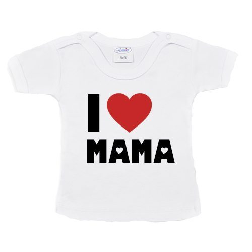T-shirtje-i-love-mama-wit