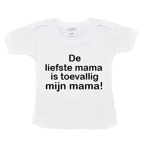 t-shirtje-liefste-mama-is-mijn-mama—wit